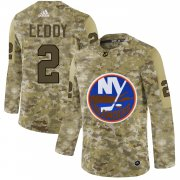 Wholesale Cheap Adidas Islanders #2 Nick Leddy Camo Authentic Stitched NHL Jersey
