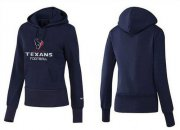 Wholesale Cheap Women's Houston Texans Authentic Logo Pullover Hoodie Blue
