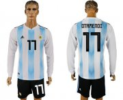 Wholesale Cheap Argentina #17 Otamendi Home Long Sleeves Soccer Country Jersey