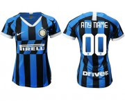 Wholesale Cheap Women's Inter Milan Personalized Home Soccer Club Jersey