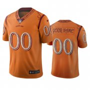 Wholesale Cheap Tampa Bay Buccaneers Custom Orange Vapor Limited City Edition Jersey