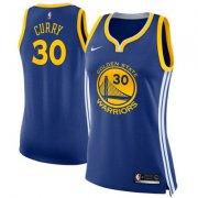 Wholesale Cheap Nike Golden State Warriors #30 Stephen Curry Blue Women's NBA Swingman Icon Edition Jersey