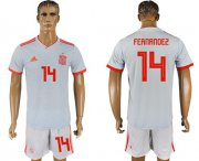 Wholesale Cheap Spain #14 Fernandez Away Soccer Country Jersey