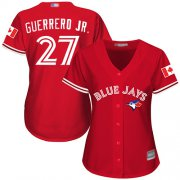 Wholesale Cheap Blue Jays #27 Vladimir Guerrero Jr. Red Canada Day Women's Stitched MLB Jersey