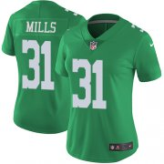 Wholesale Cheap Nike Eagles #31 Jalen Mills Green Women's Stitched NFL Limited Rush Jersey