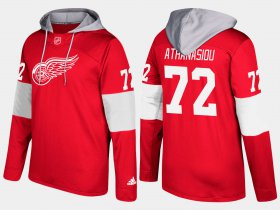 Wholesale Cheap Red Wings #72 Andreas Athanasiou Red Name And Number Hoodie