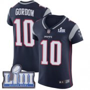 Wholesale Cheap Nike Patriots #10 Josh Gordon Navy Blue Team Color Super Bowl LIII Bound Men's Stitched NFL Vapor Untouchable Elite Jersey