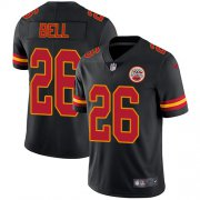 Wholesale Cheap Nike Chiefs #26 Le'Veon Bell Black Men's Stitched NFL Limited Rush Jersey