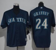 Wholesale Cheap Mariners #24 Ken Griffey Navy Blue Cool Base Stitched Youth MLB Jersey