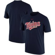 Wholesale Cheap Minnesota Twins Nike Batting Practice Logo Legend Performance T-Shirt Navy