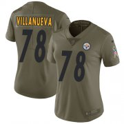 Wholesale Cheap Nike Steelers #78 Alejandro Villanueva Olive Women's Stitched NFL Limited 2017 Salute to Service Jersey