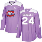 Wholesale Cheap Adidas Canadiens #24 Phillip Danault Purple Authentic Fights Cancer Stitched Youth NHL Jersey