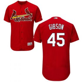 Wholesale Cheap Cardinals #45 Bob Gibson Red Flexbase Authentic Collection Stitched MLB Jersey