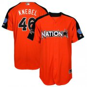 Wholesale Cheap Brewers #46 Corey Knebel Orange 2017 All-Star National League Stitched MLB Jersey