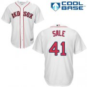 Wholesale Cheap Red Sox #41 Chris Sale White Cool Base Stitched Youth MLB Jersey