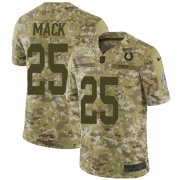 Wholesale Cheap Nike Colts #25 Marlon Mack Camo Men's Stitched NFL Limited 2018 Salute To Service Jersey