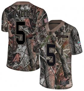 Wholesale Cheap Nike Ravens #5 Joe Flacco Camo Men\'s Stitched NFL Limited Rush Realtree Jersey
