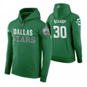 Wholesale Cheap Adidas Stars #30 Ben Bishop Men's Green 2020 Winter Classic Retro NHL Hoodie