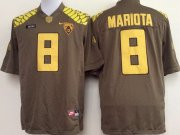 Wholesale Cheap Oregon Duck #8 Marcus Mariota 2013 Brown Limited Jersey