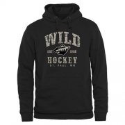Wholesale Cheap Men's Minnesota Wild Black Camo Stack Pullover Hoodie