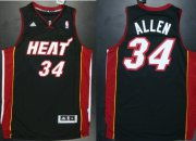 Wholesale Cheap Miami Heat #34 Ray Allen Revolution 30 Swingman Black Jersey