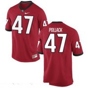 Wholesale Cheap Men's Georgia Bulldogs #47 David Pollack Red Stitched College Football 2016 Nike NCAA Jersey