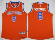 Wholesale Cheap Men's New York Knicks #6 Kristaps Porzingis Revolution 30 Swingman 2015-16 Orange Jersey