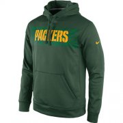 Wholesale Cheap Green Bay Packers Nike KO Speed Wordmark Performance Hoodie Green