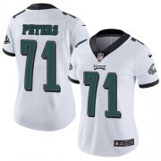 Wholesale Cheap Nike Eagles #71 Jason Peters White Women's Stitched NFL Vapor Untouchable Limited Jersey