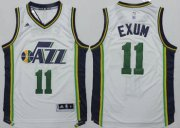 Wholesale Cheap Utah Jazz #11 Dante Exum Revolution 30 Swingman 2014 New White Jersey