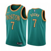 Wholesale Cheap Nike Celtics #7 Jaylen Brown Green 2019-20 City Edition NBA Jersey