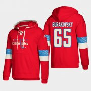 Wholesale Cheap Washington Capitals #65 Andre Burakovsky Red adidas Lace-Up Pullover Hoodie