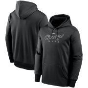Wholesale Cheap Chicago White Sox Nike Outline Wordmark Fleece Performance Pullover Hoodie Black