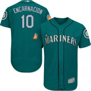 Wholesale Cheap Mariners #10 Edwin Encarnacion Green Flexbase Authentic Collection Stitched MLB Jersey