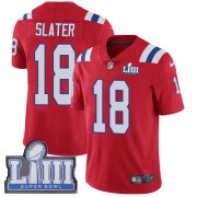 Wholesale Cheap Nike Patriots #18 Matt Slater Red Alternate Super Bowl LIII Bound Men's Stitched NFL Vapor Untouchable Limited Jersey