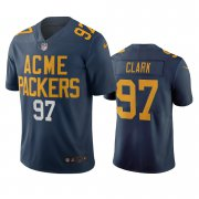 Wholesale Cheap Green Bay Packers #97 Kenny Clark Navy Vapor Limited City Edition NFL Jersey