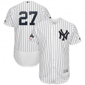 Wholesale Cheap New York Yankees #27 Giancarlo Stanton Majestic 2019 Postseason Authentic Flex Base Player Jersey White Navy
