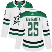 Cheap Adidas Stars #25 Joel Kiviranta White Road Authentic Women's Stitched NHL Jersey
