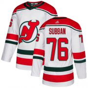 Wholesale Cheap Adidas Devils #76 P.K. Subban White Alternate Authentic Stitched NHL Jersey