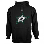 Wholesale Cheap Dallas Stars Old Time Hockey Big Logo with Crest Pullover Hoodie Black
