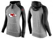 Wholesale Cheap Women's Nike Kansas City Chiefs Performance Hoodie Grey & Black