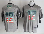 Wholesale Nike Seahawks #12 Fan Grey Men's Stitched NFL Elite USA Flag Fashion Jersey