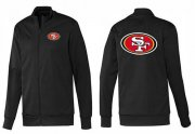 Wholesale NFL San Francisco 49ers Team Logo Jacket Black_1