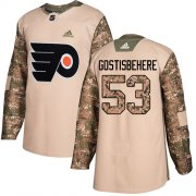 Wholesale Cheap Adidas Flyers #53 Shayne Gostisbehere Camo Authentic 2017 Veterans Day Stitched NHL Jersey