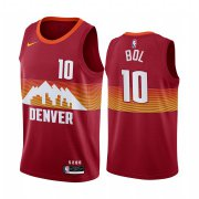 Wholesale Cheap Nike Nuggets #10 Bol Bol Red NBA Swingman 2020-21 City Edition Jersey