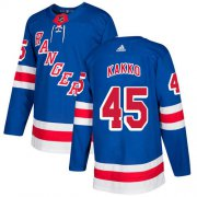 Wholesale Cheap Adidas Rangers #45 Kappo Kakko Royal Blue Home Authentic Stitched Youth NHL Jersey