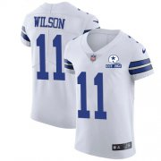 Wholesale Cheap Nike Cowboys #11 Cedrick Wilson White Men's Stitched With Established In 1960 Patch NFL New Elite Jersey