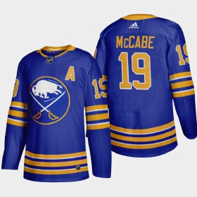 Cheap Buffalo Sabres #19 Jake Mccabe Men\'s Adidas 2020-21 Home Authentic Player Stitched NHL Jersey Royal Blue