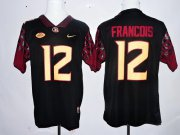 Wholesale Cheap Men's Florida State Seminoles #12 Deondre Francois Black Stitched College Football 2016 Nike NCAA Jersey