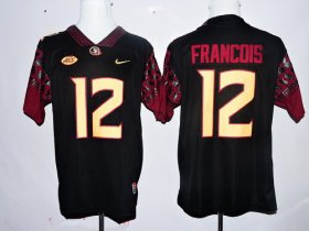 Wholesale Cheap Men\'s Florida State Seminoles #12 Deondre Francois Black Stitched College Football 2016 Nike NCAA Jersey